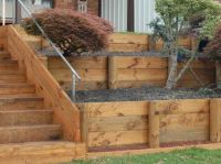 How to Build a Retaining Wall with wood | For the Home ...