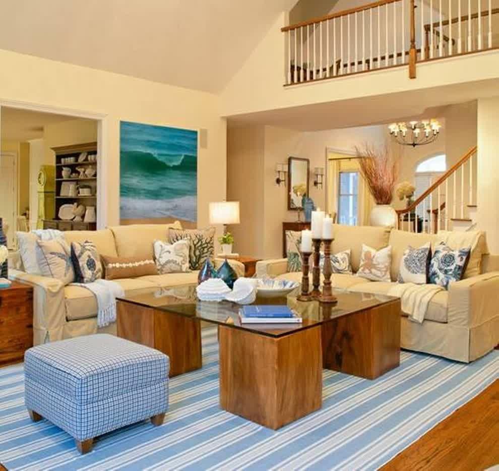 Beach House Living Room Beach Theme Decor Themed Rugs Decorate