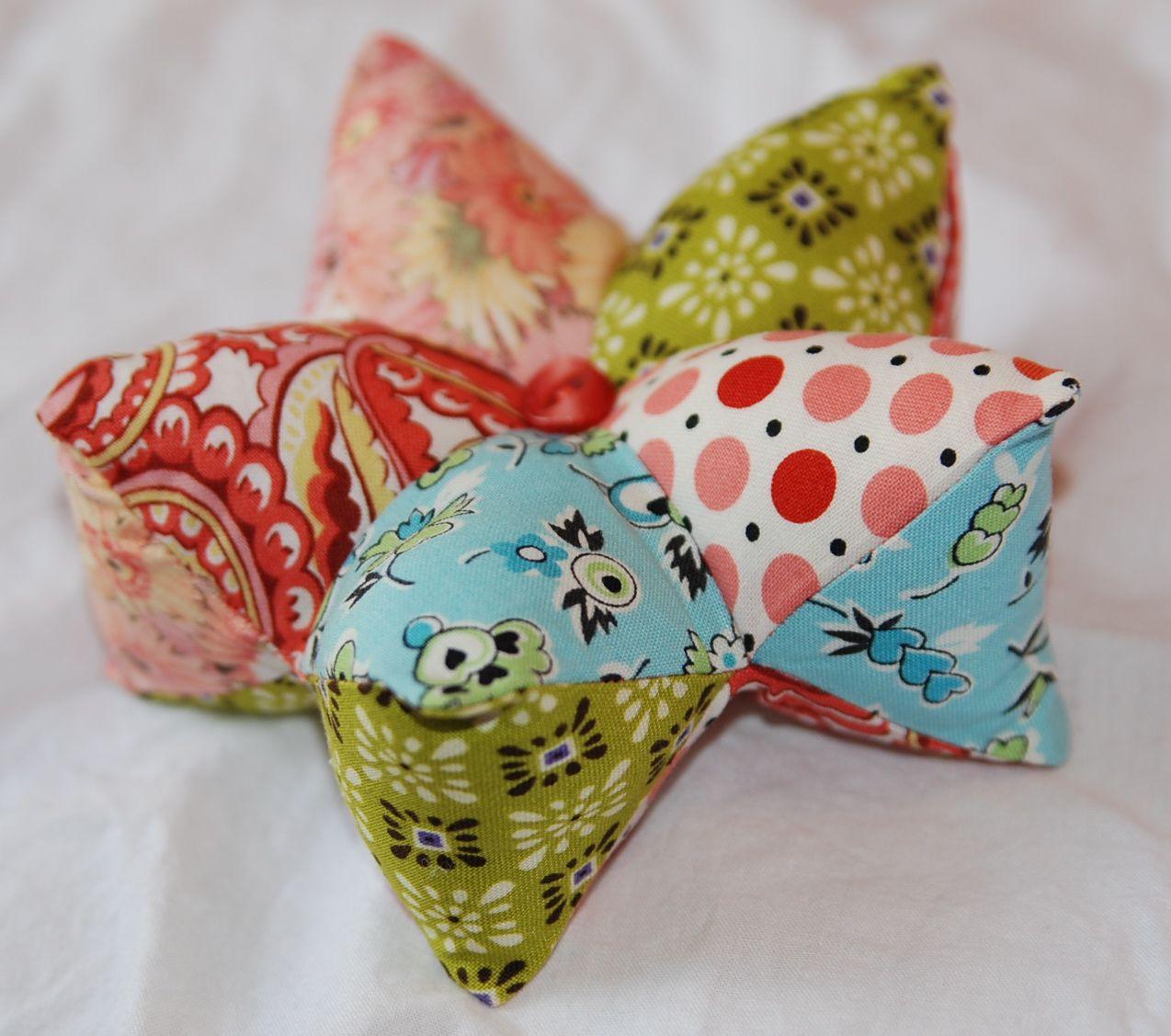 3d star pillow pattern  Craft Ideas  Pinterest  3d star Patterns and Sewing ideas