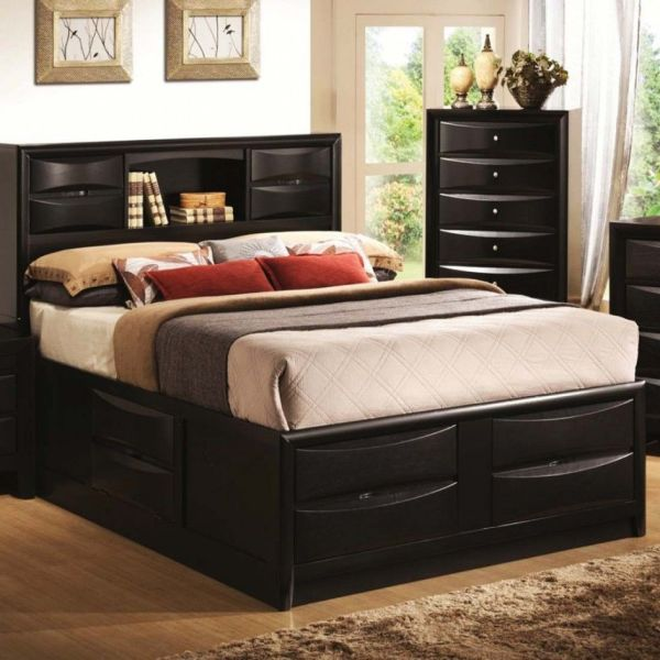 Double Bed with Storage Design