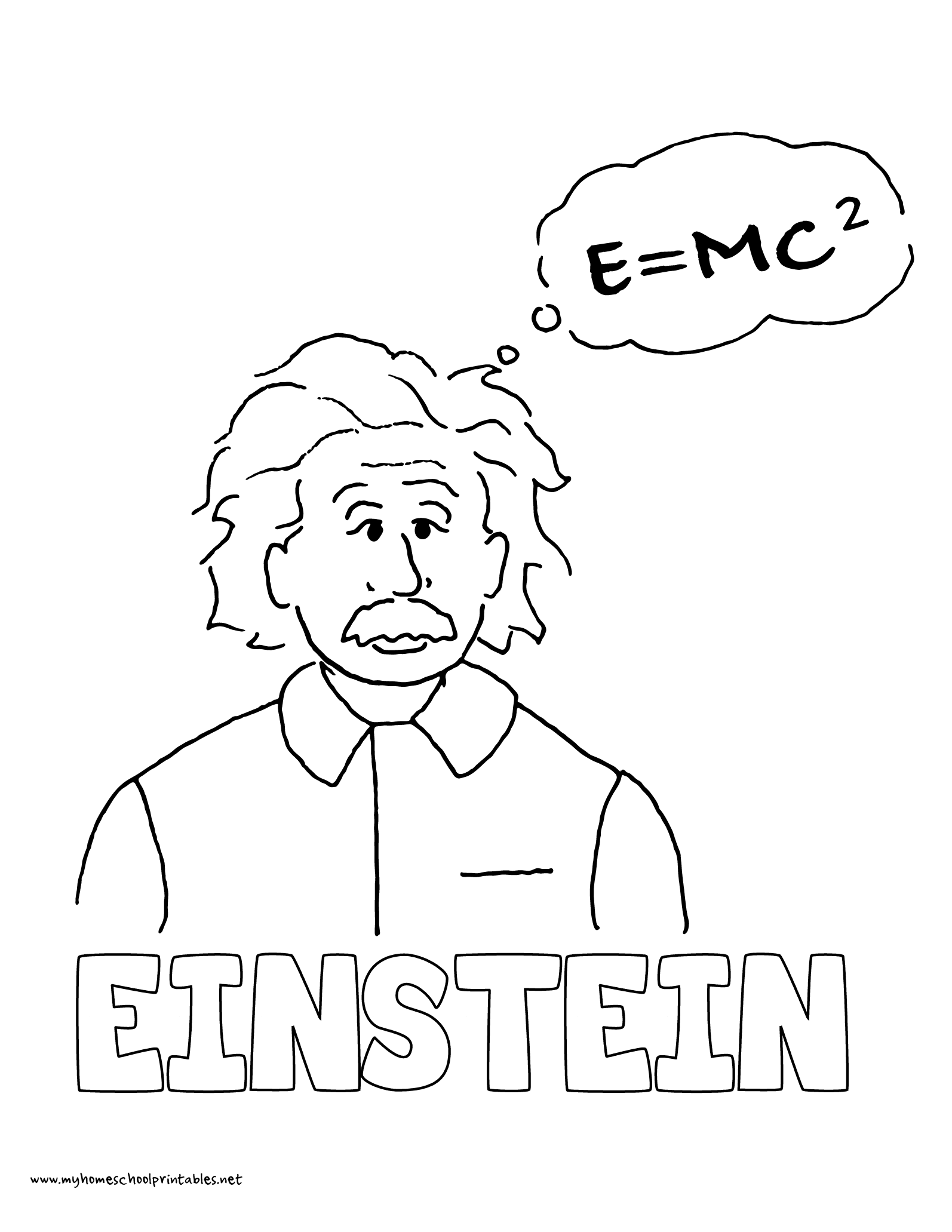 World History Coloring Pages Printables Albert Einstein