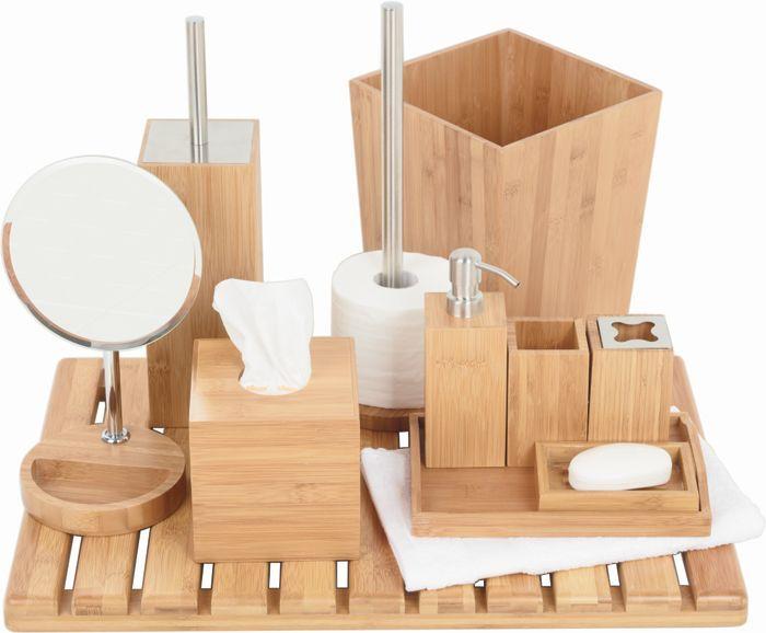 koo' bamboo bathroom accessories | bamboo | pinterest | bamboo