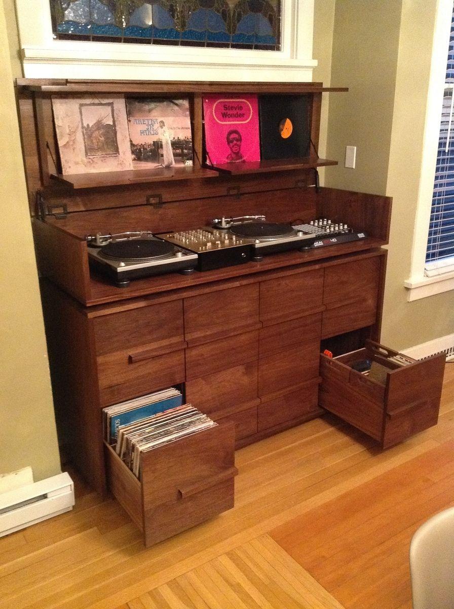 Best Kitchen Gallery: Custom Made Sorenson Record Cabi Turntable Cabi Ry of Cabinet Storage Turntable on rachelxblog.com