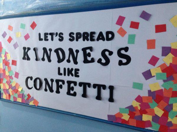 ' Spread Kindness Confetti Hallway Bulletin Board