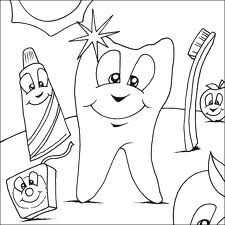 Dental coloring sheets. Dentistry for Children and Young