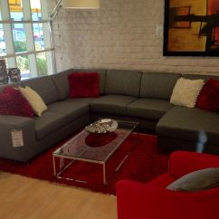 Red Accent Pillows For Sofa French Provincial Sofas Sale Another Version Grey Couch Downstairs Family