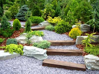 Rock Garden Ideas Gardens Garden Steps And Walkways