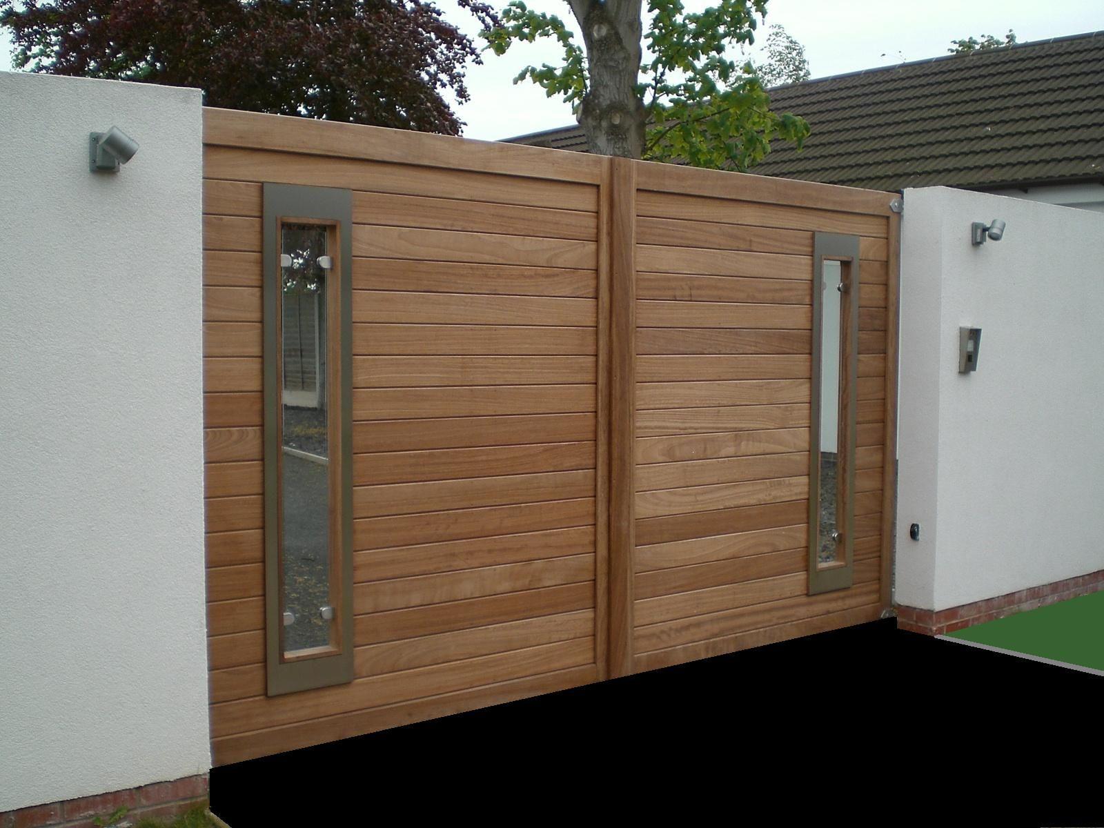 modern wooden gate http://www.pinterest.com/avivbeber3
