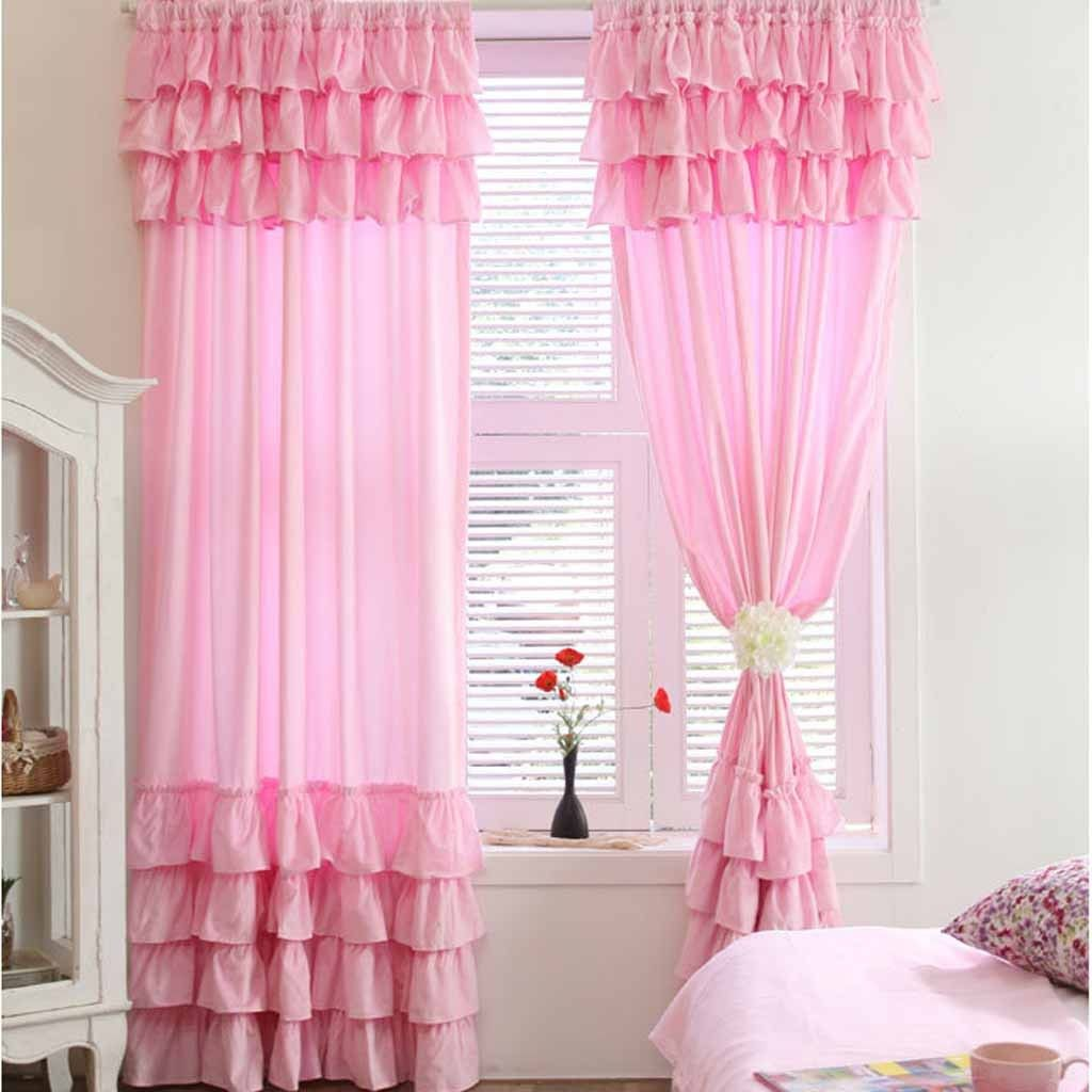 7 Tiered Ruffle Curtain Panel Curtains For Bedroom Little