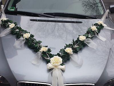 Details zu Autoschmuck Autogirlande aus Efeu Hochzeit