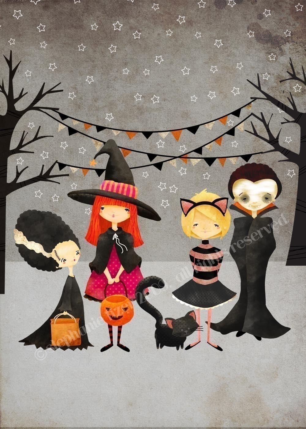 medium resolution of halloween art print the boo crew print kids art children s art decor nursery