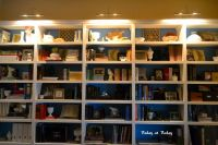 bookcase with swing arm lamps - Google Search   Bookcase ...