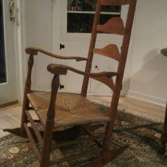 Shaker Ladder Back Chair Ergonomic Computer Antique 1800s New England Elders