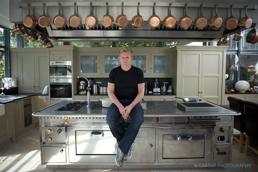 Gordon Ramsey In His Kitchen At Home London