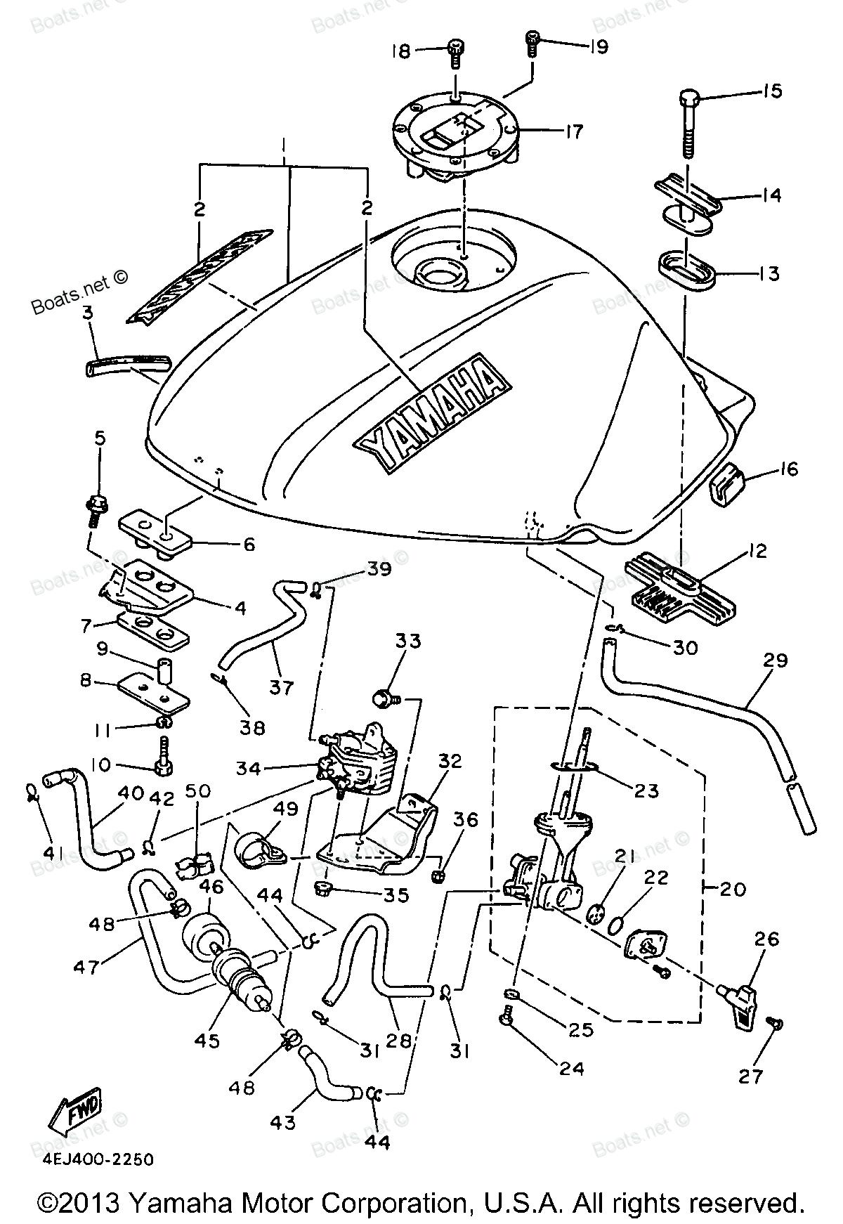 Seca 2 Yamaha Fuel System Diagram