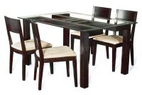 wooden dining table designs with glass top - Google Search ...