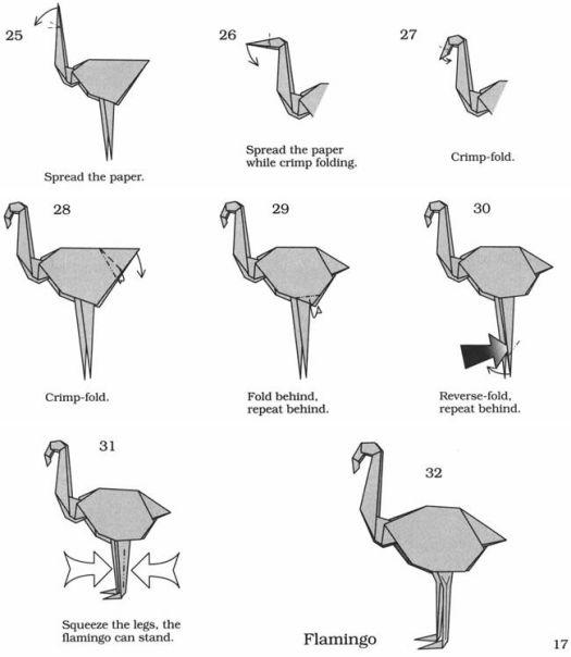 Origami Flamingo Instructions Origami Tutorial Lets Make It