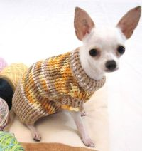 Rustic Cotton Dog Sweater Chihuahua Puppy Clothes Teacup ...