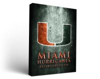 Miami Hurricanes Aged Metal Rectangle Canvas Wall Art ...