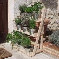 3 Tier Wooden Flower Stand Herb Plant Pot Shelves Garden ...