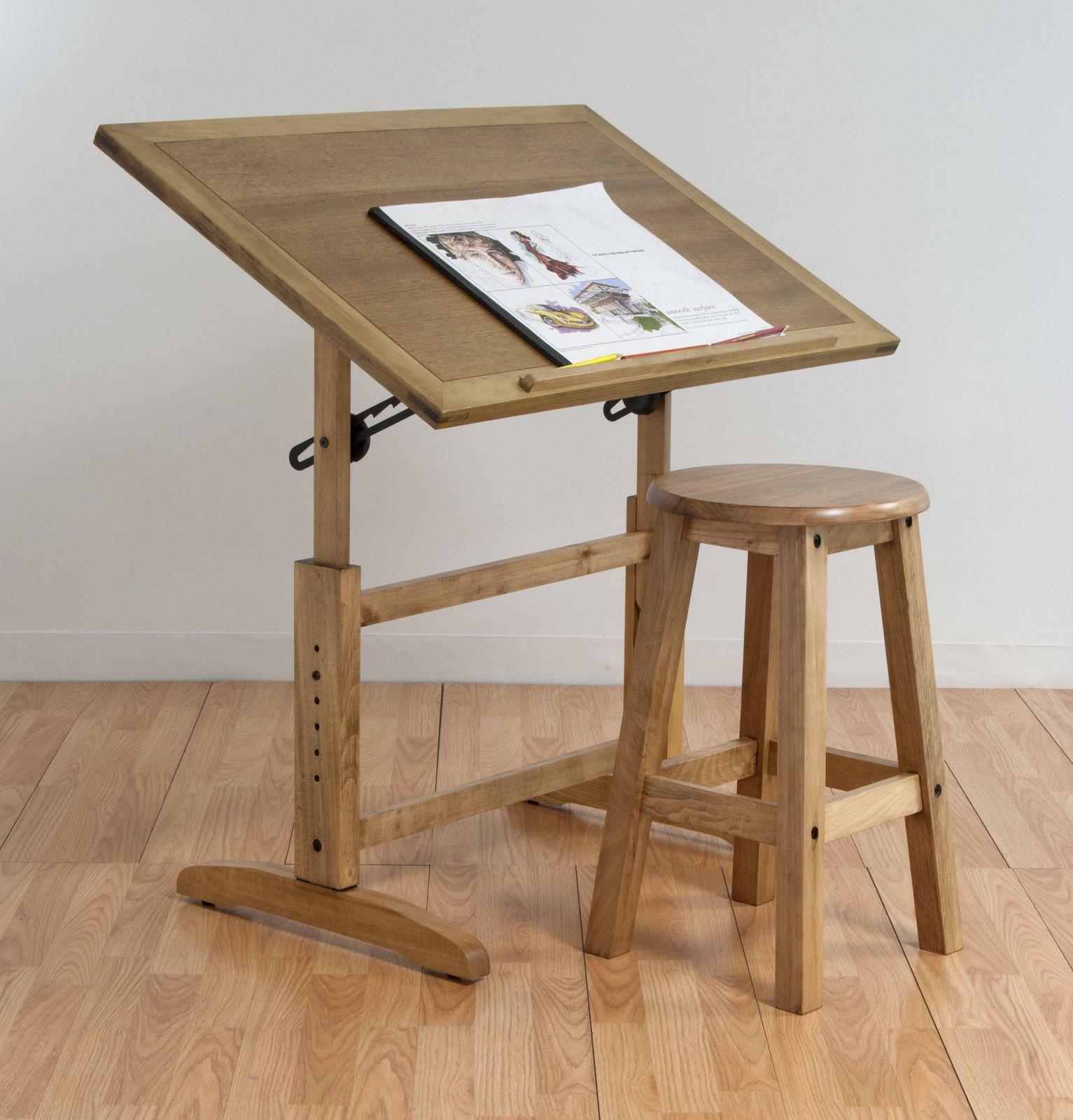 tall drafting table chair ergonomic standing new adjustable wood stool drawing studio