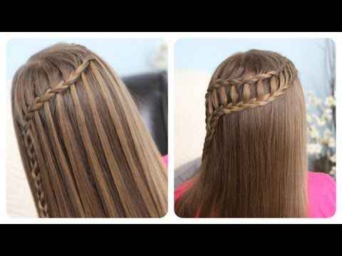 Feather Waterfall & Ladder Braid Combo Two Gorgeous #hairstyles
