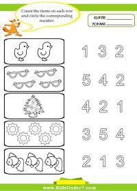 preschool worksheets | Kids Under 7: Preschool Counting ...