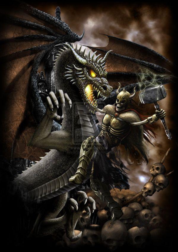 Dragon Slayer 2 Chrisbryancreative Cool Art Dragons And Dark