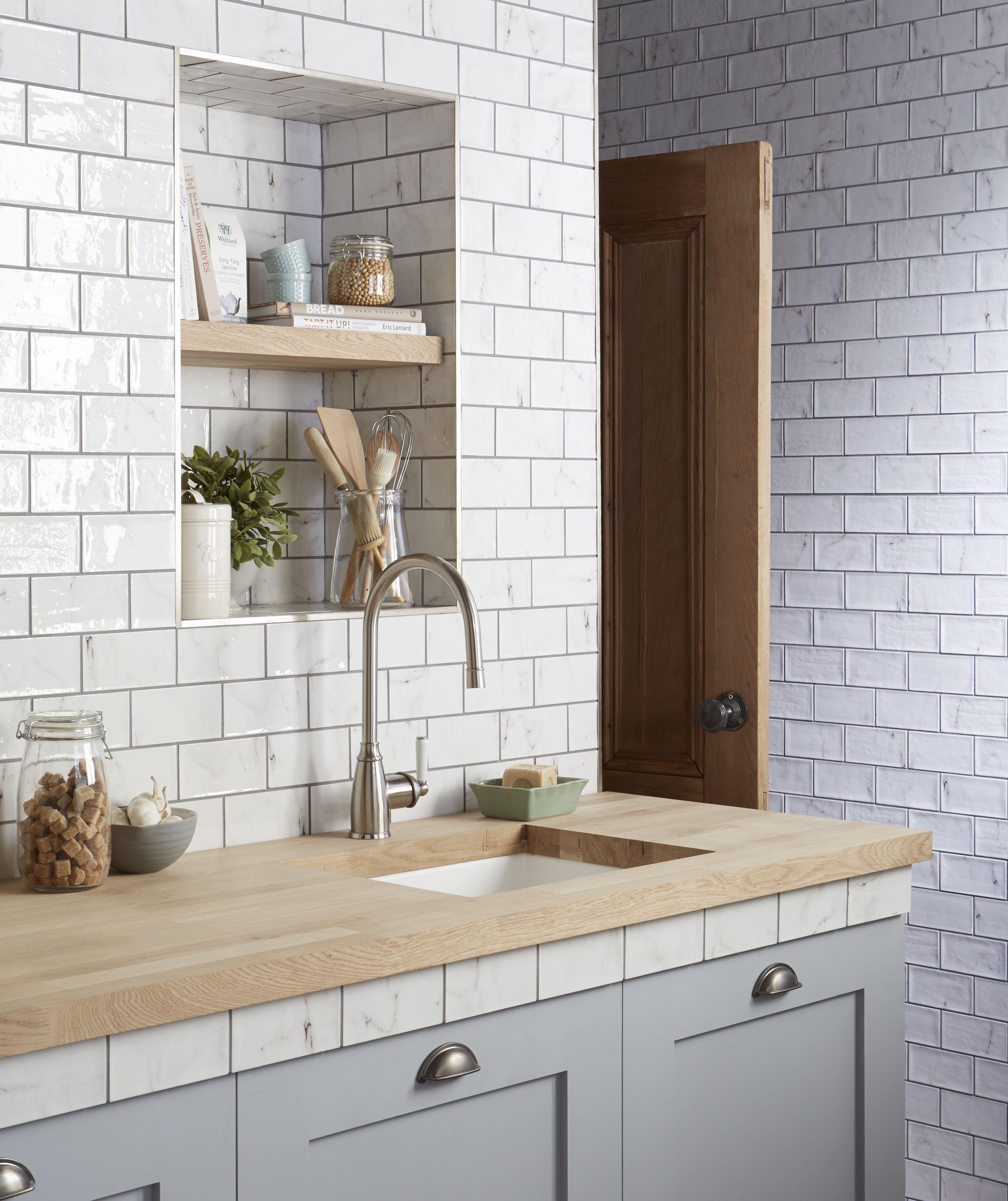 wall tile for kitchen black stools vyne white gloss tiles home pinterest