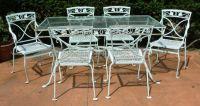 A Salterini 7 pc wrought iron dining set, Mt Vernon / Joan ...