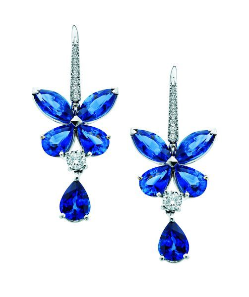 Graff Blue Diamond Graff Butterfly Series earrings