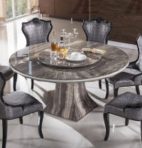 American Eagle DT-H36 Black Marble Top Round Dining Table ...