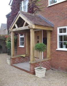 Oak porch with low wall more also best images about exterior home colors on pinterest portico rh uk