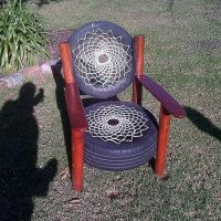 Recycled Tyre Chair - Rocky Road Backpackers - South ...