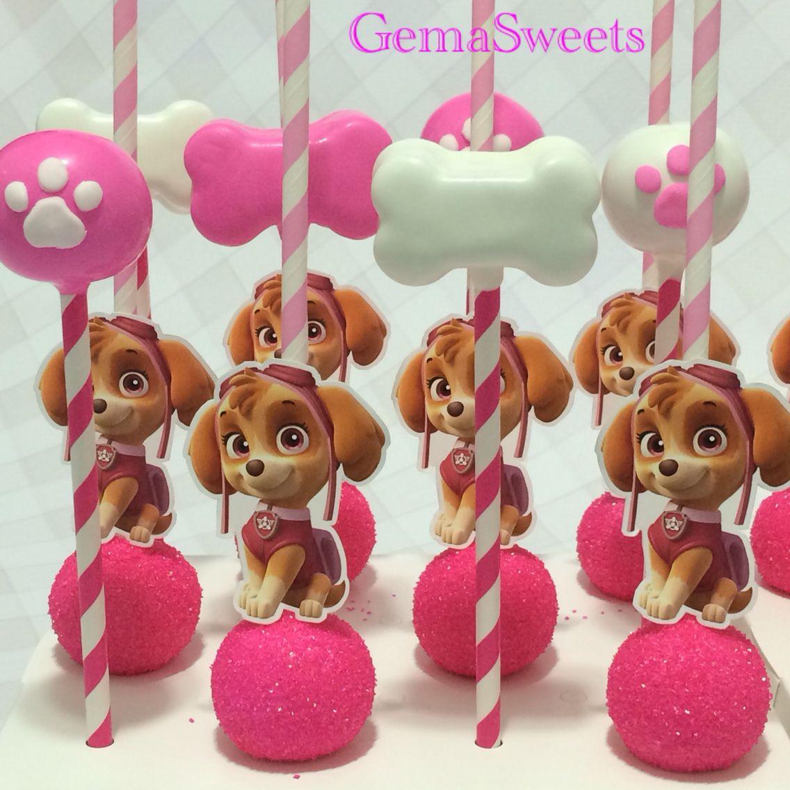 Paw Patrol Skye Cake Pops By Gema Sweets