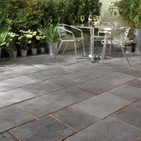 Enthralling Slate Pavers for Patio on Running Bond Tile ...