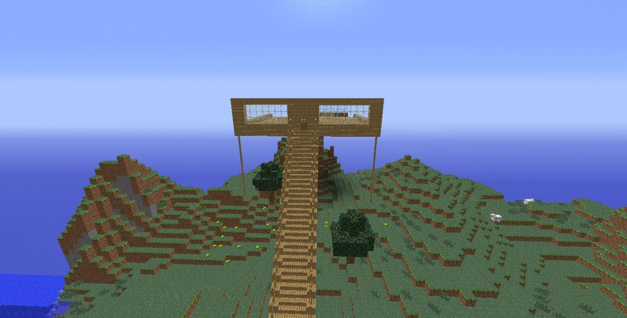 Minecraft House With Stilts Minecraft Pinterest Minecraft