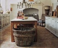 Farmhouse kitchen, brick floors | Home on the range ...