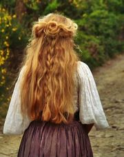 lovely medieval hairstyle viking