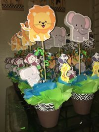 Jungle buddies safari centerpiece | animals | Pinterest ...