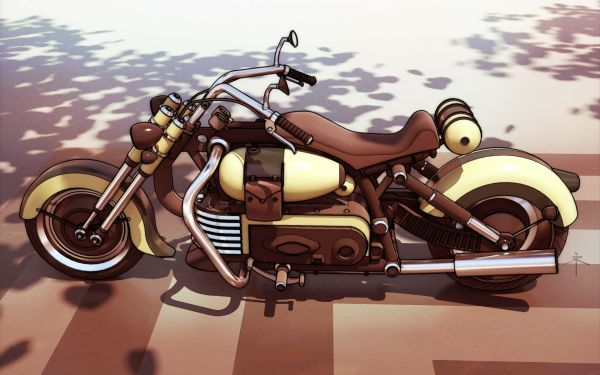 Dieselpunk Vehicles Motorcycle
