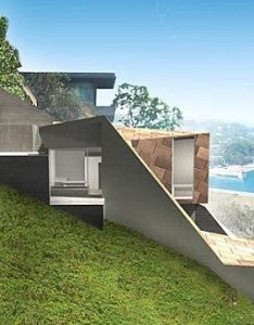 Exterior modular grant house in sloping land overlooking blue ocean unique picture design home good also rh pinterest
