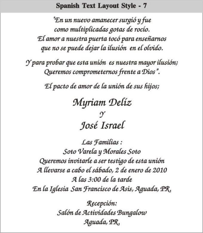 Wedding invitations wording samples from bride and groom in spanish wedding invitations wording samples from bride and groom in spanish filmwisefo