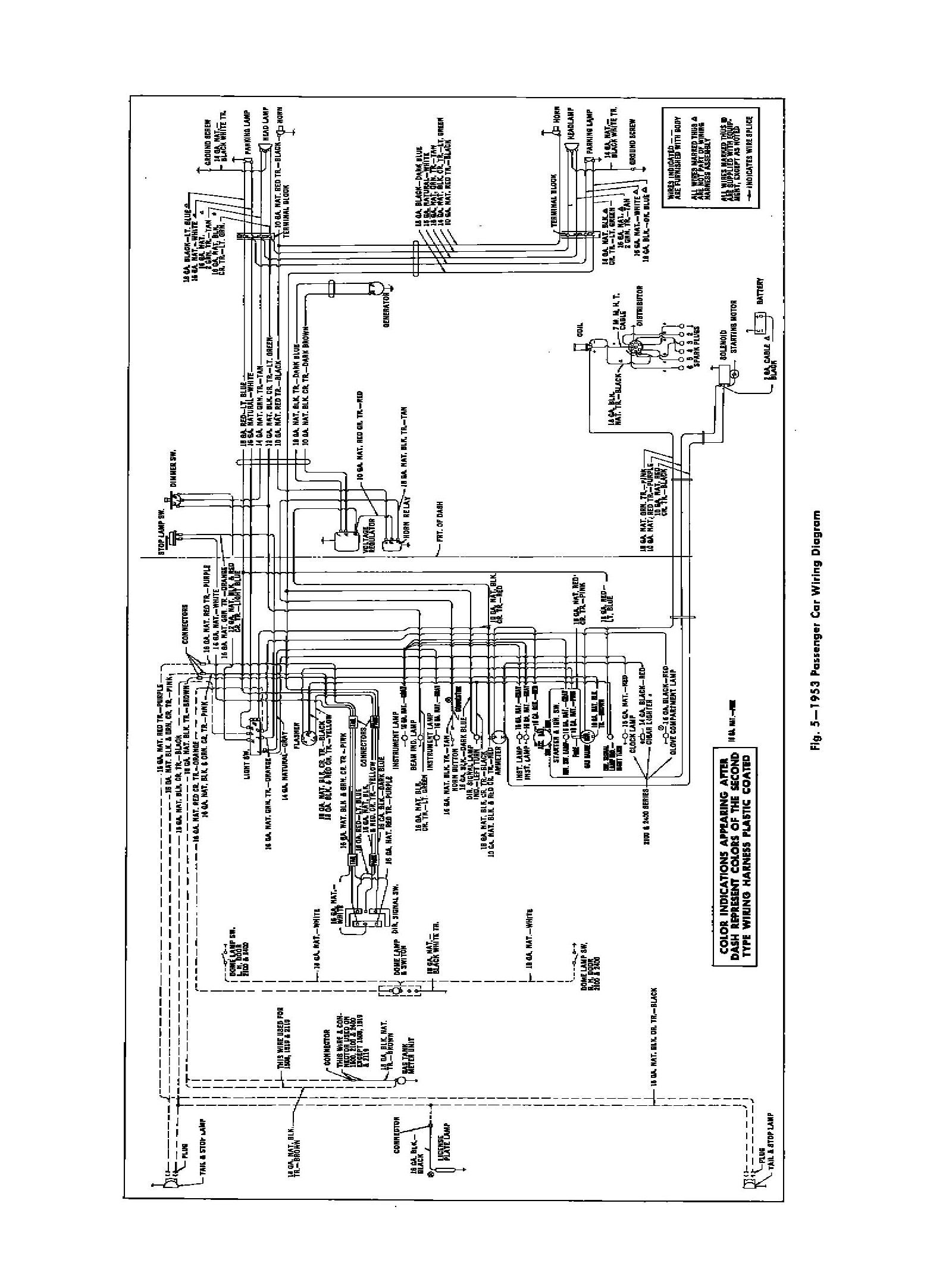 1953 chevy truck wiring diagram honeywell frost thermostat 53 chevrolet bel air