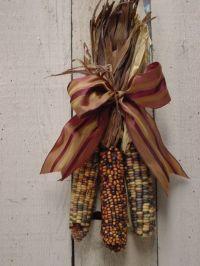 INDIAN CORN SWAG / Fall door wreath / Harvest decoration ...
