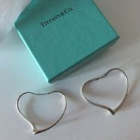 soldTiffany Elsa Peretti heart hoop earrings