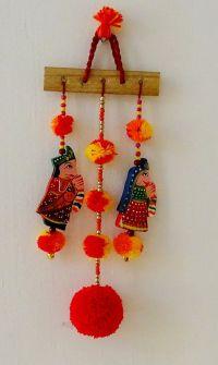 Wall hanging, door hangings, Indian traditional Raja Rani ...