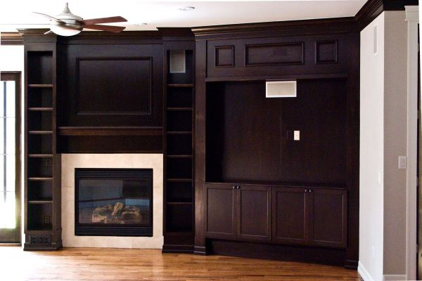 Contemporary Wall Unit And Fireplace