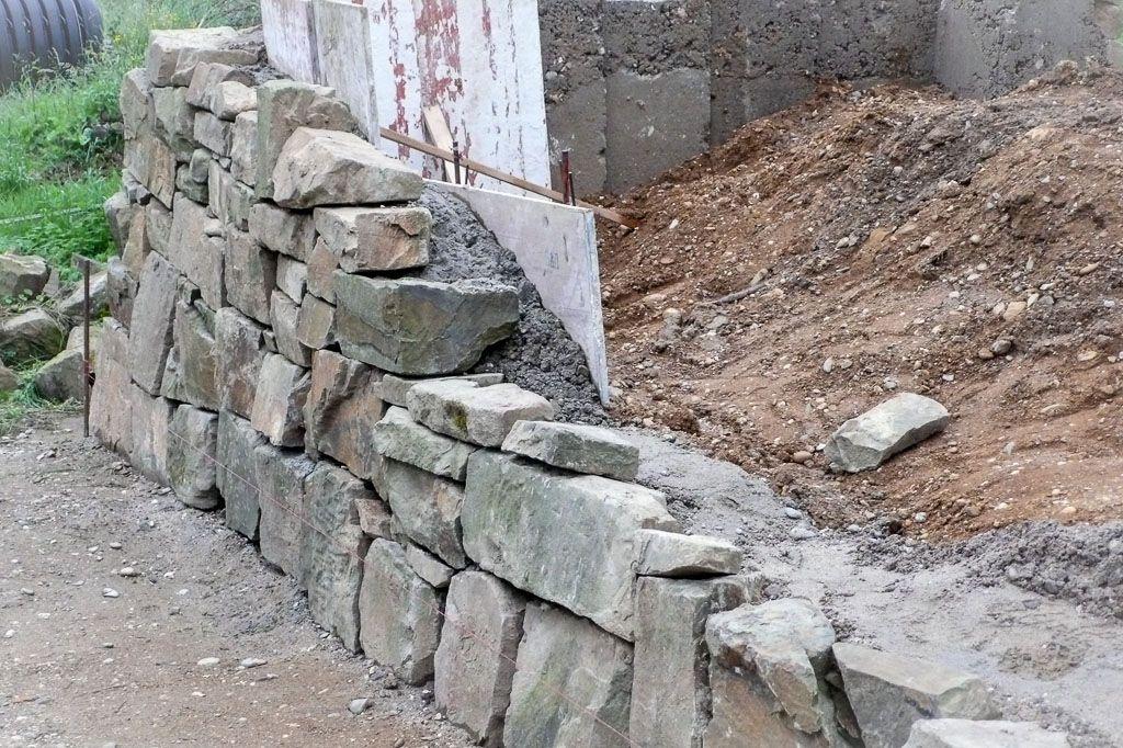 Trockenmauer Selber Machen Garten Terrasse  Kiesweg