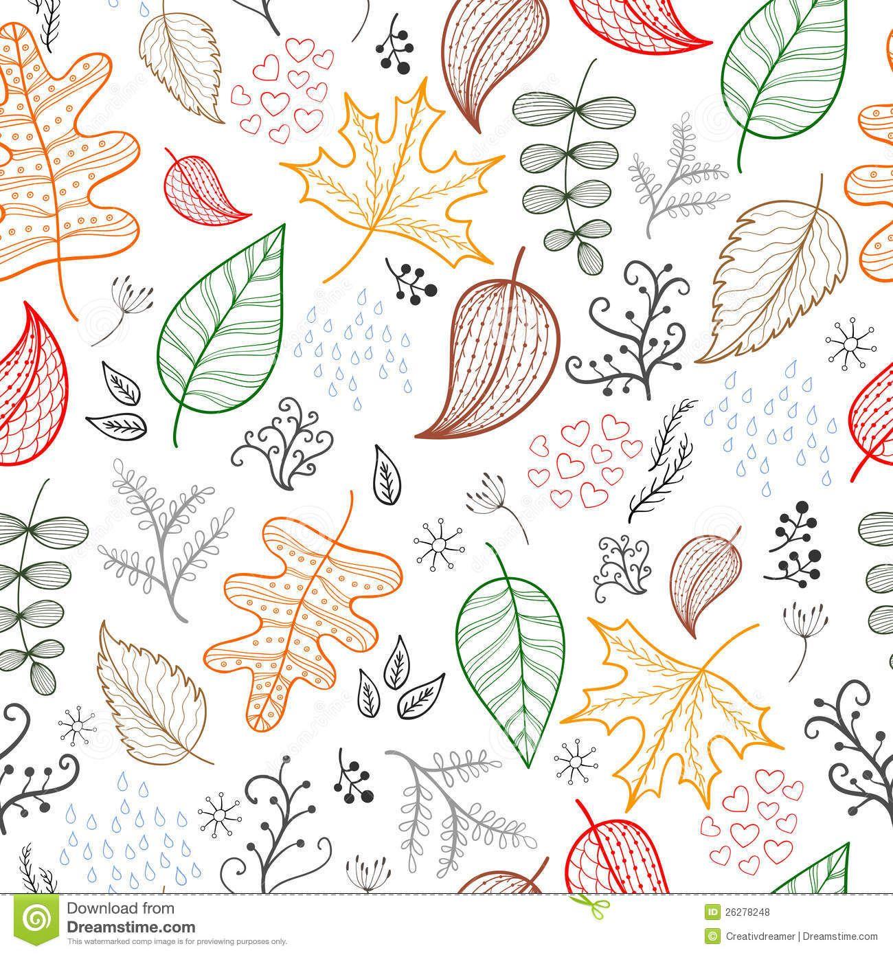 Autumn Patterns Background White